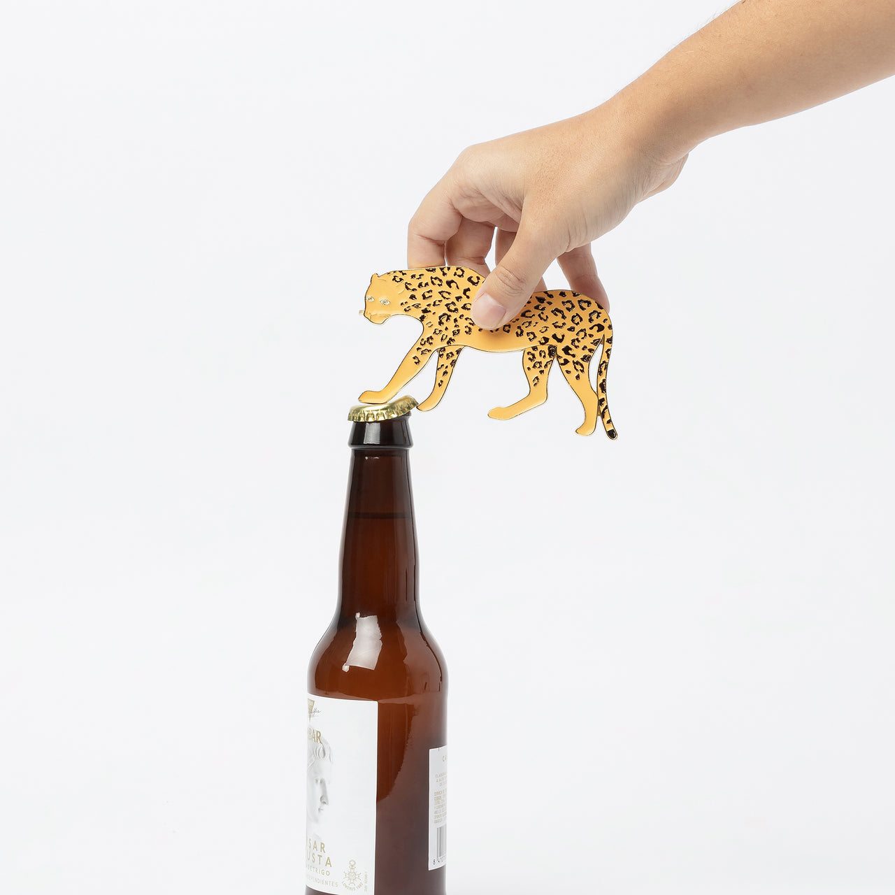 Cheetah Bottle Opener