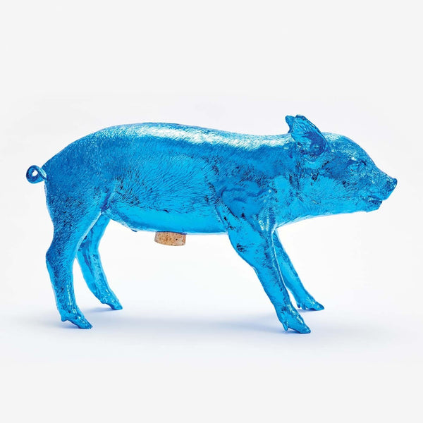 Piggy Bank - Electric Blue Chrome