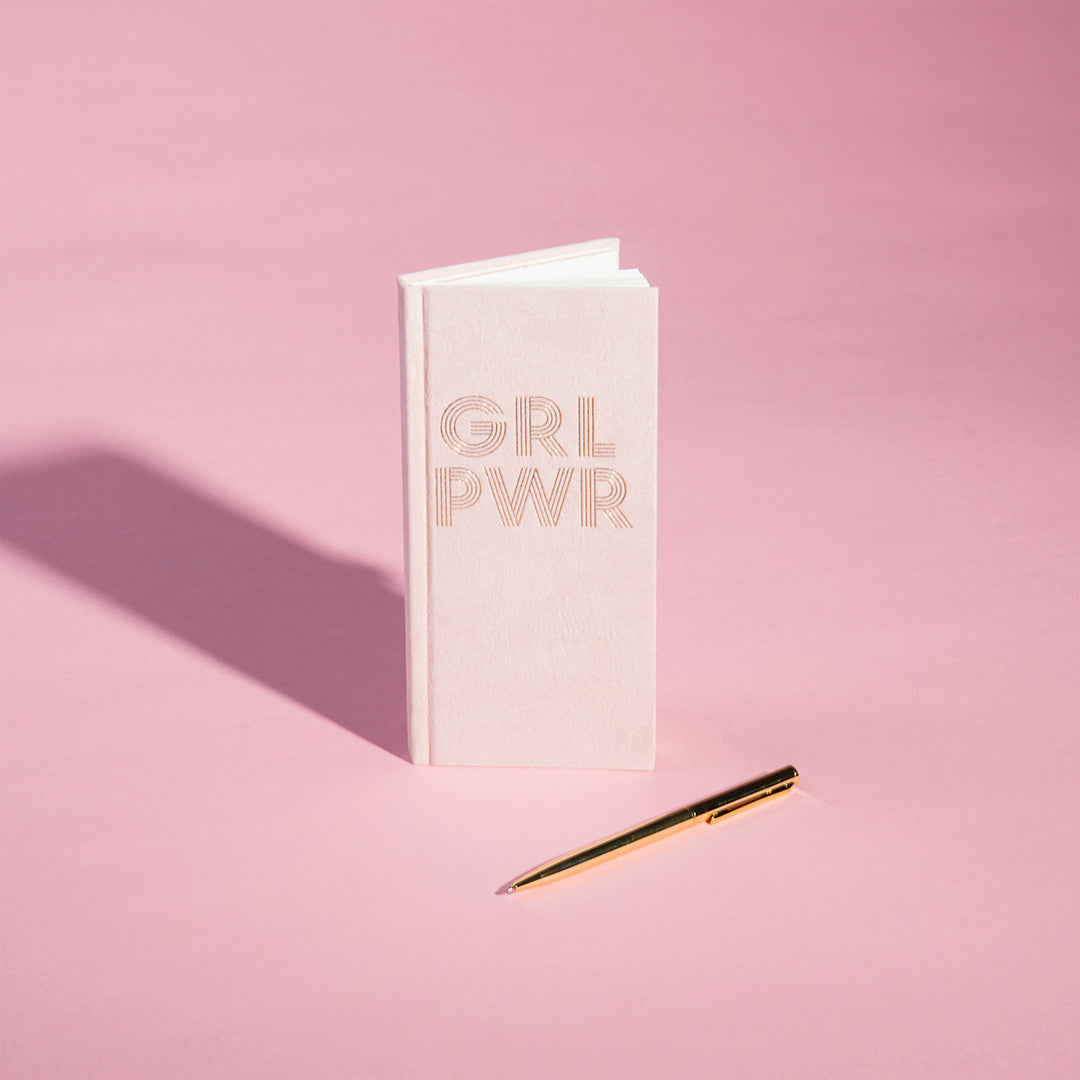 GRL PWR Skinny Journal With Pen