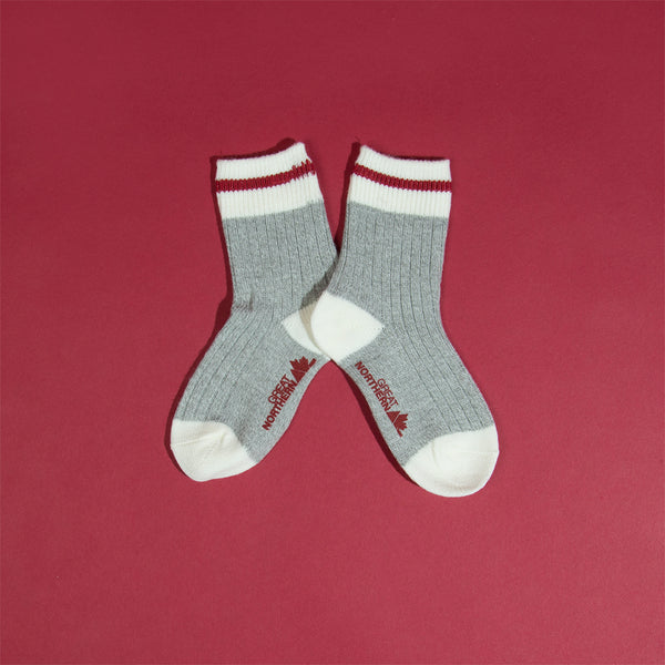 Kids Camp Socks - Red Stripe