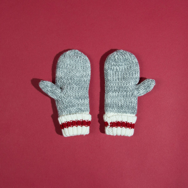 Kids Camp Mitten - Red Stripe