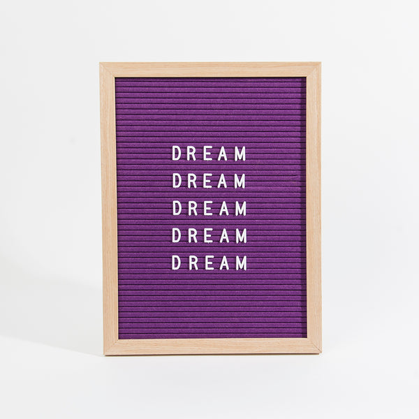 Large Felt Letterboard - Purple