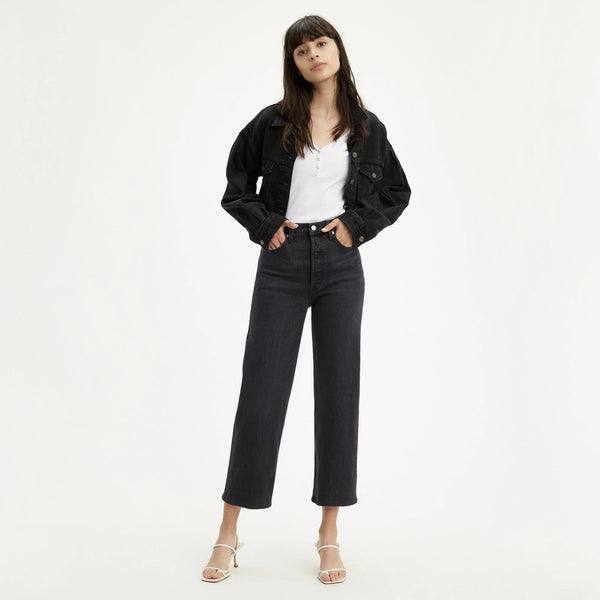 Ribcage Straight Ankle Jean - Feelin' Cagey Black