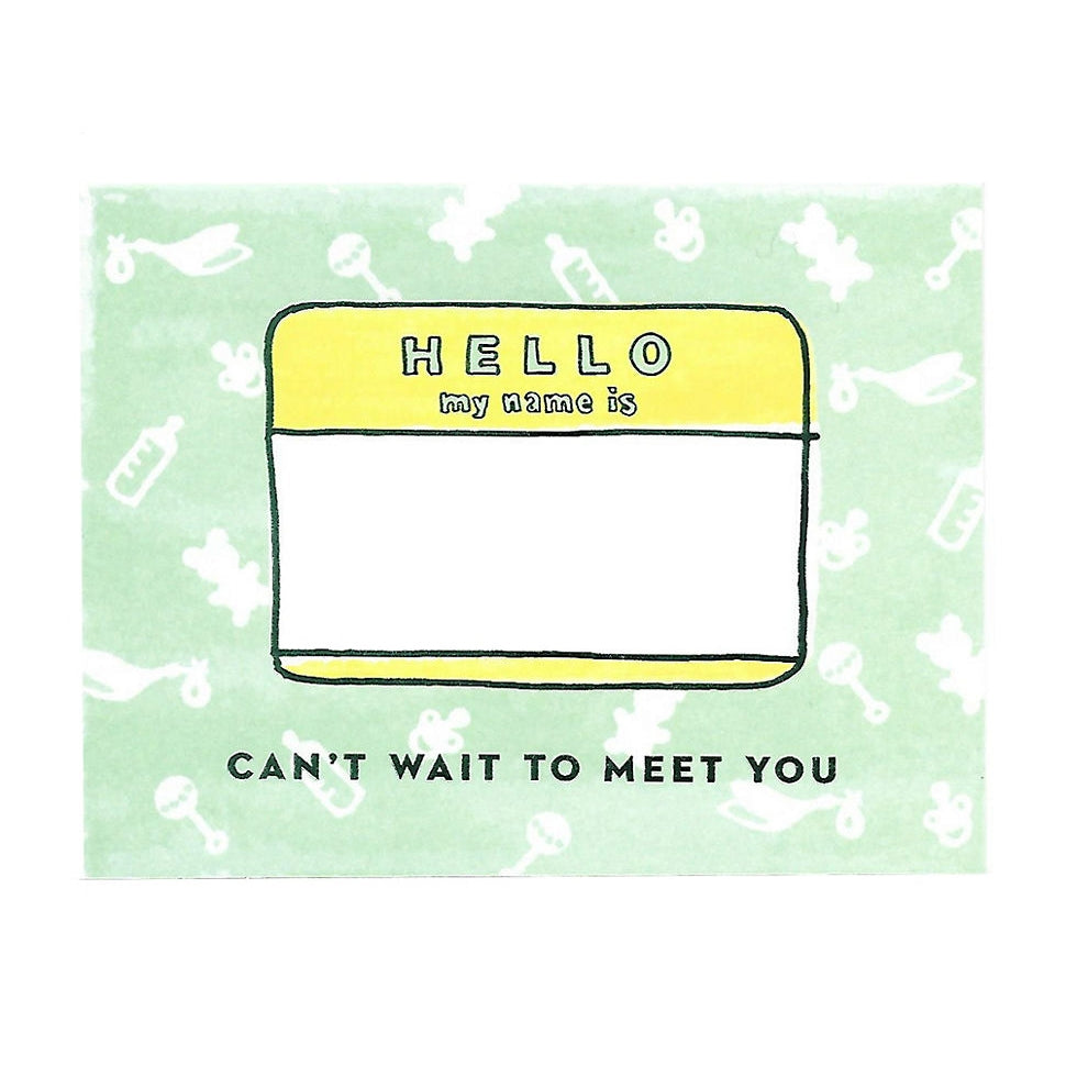 Greeting Card – Can't Wait to Meet You Baby