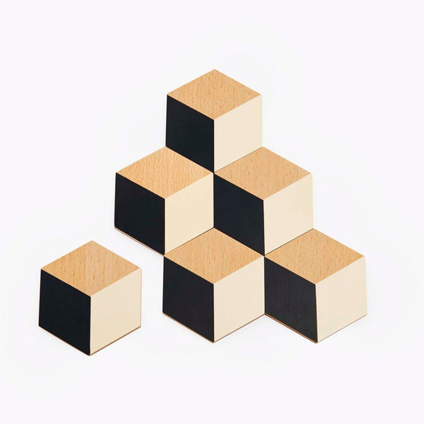 Table Tiles – Black/Beige