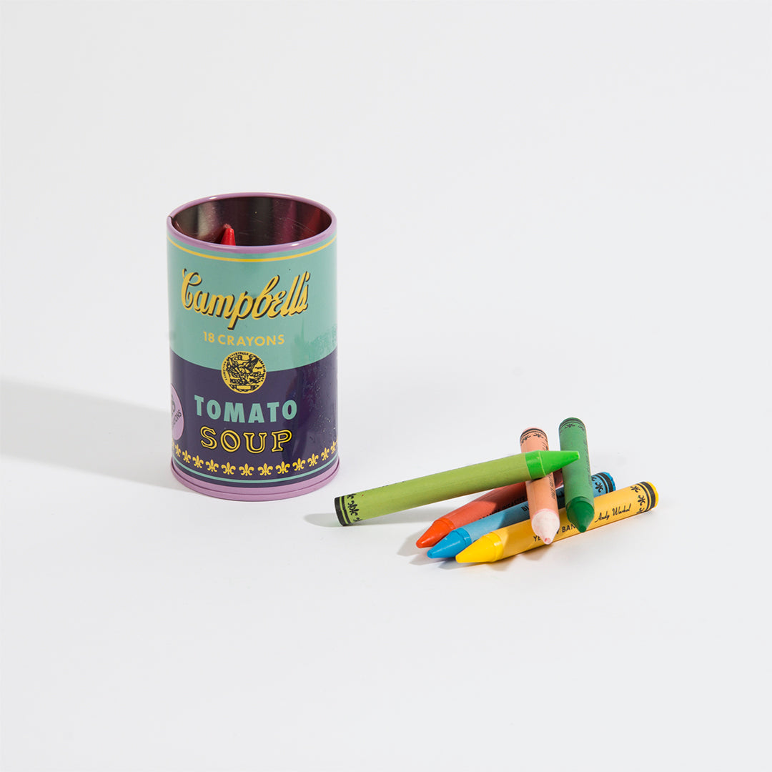 Soup Can Crayons - Purple