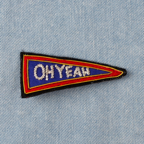 Embroidered Pin - Oh Yeah