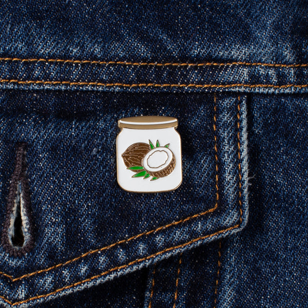 Enamel Pin - Coconut Oil