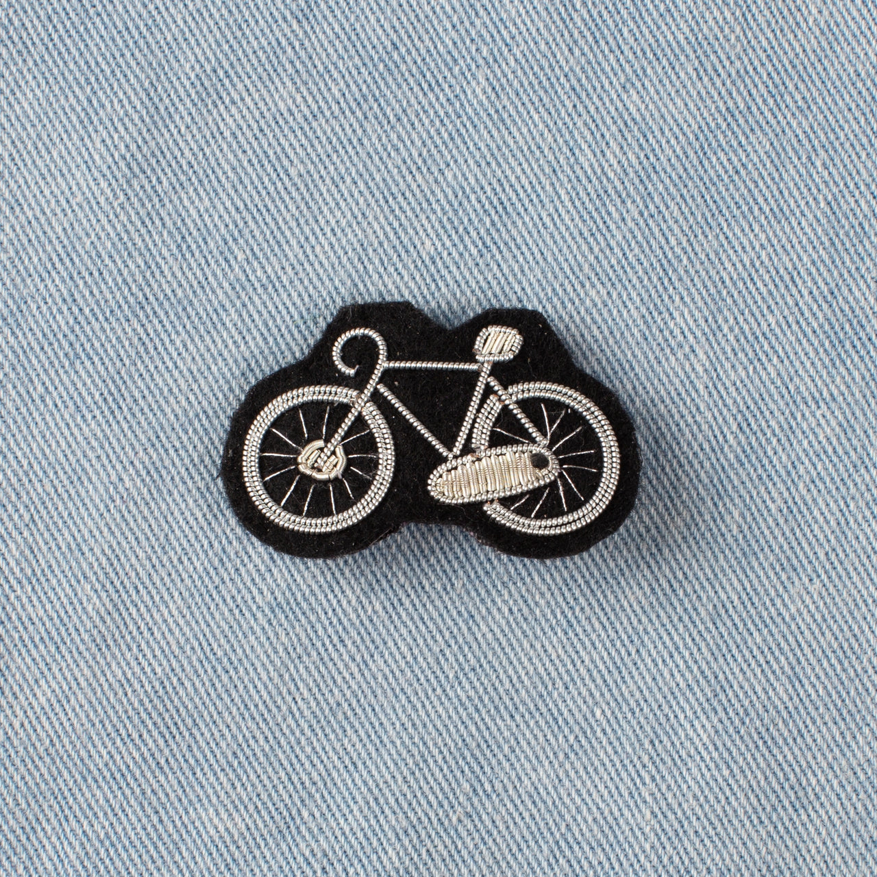 Embroidered Pin - Bike