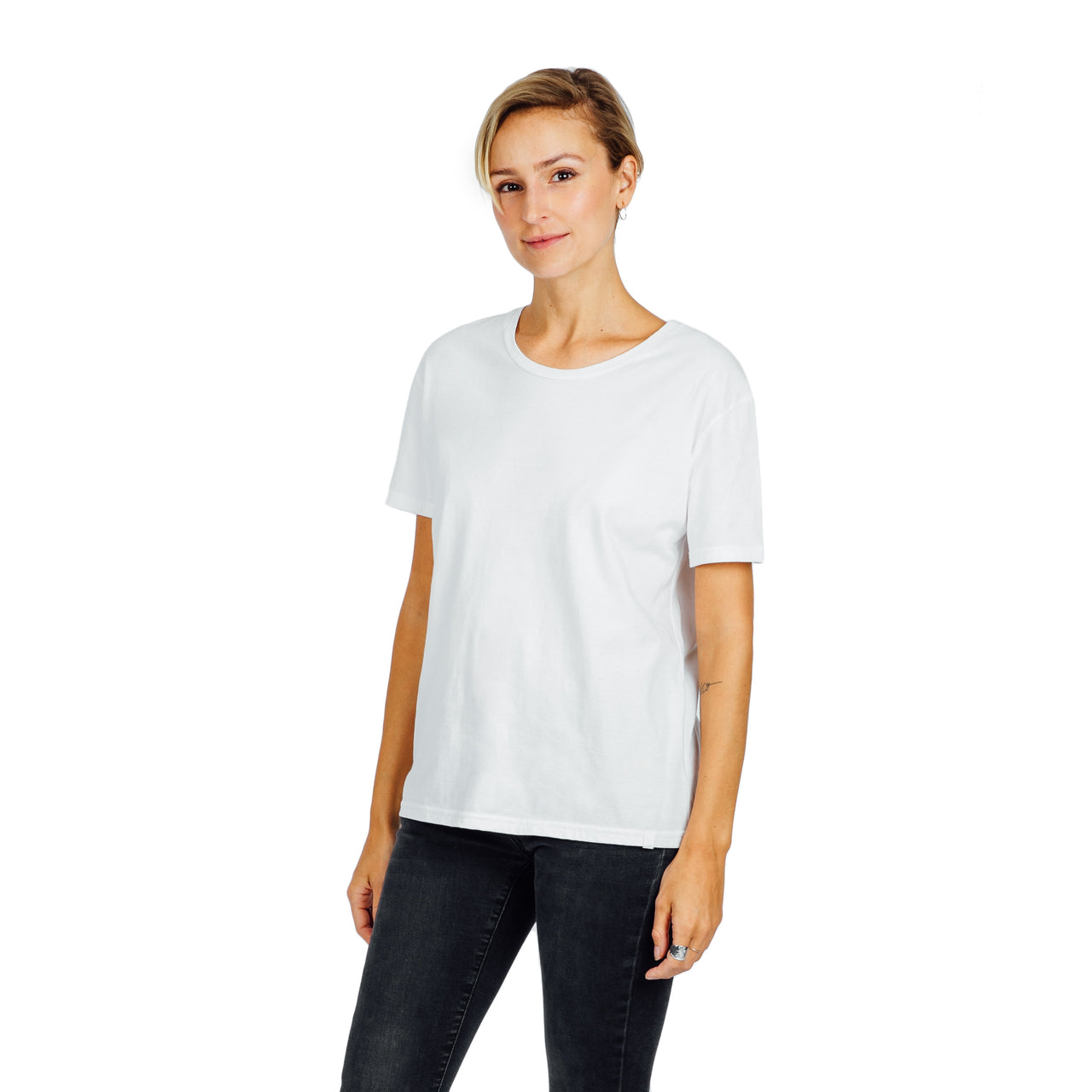 Women's Relaxed Fit Tee- White