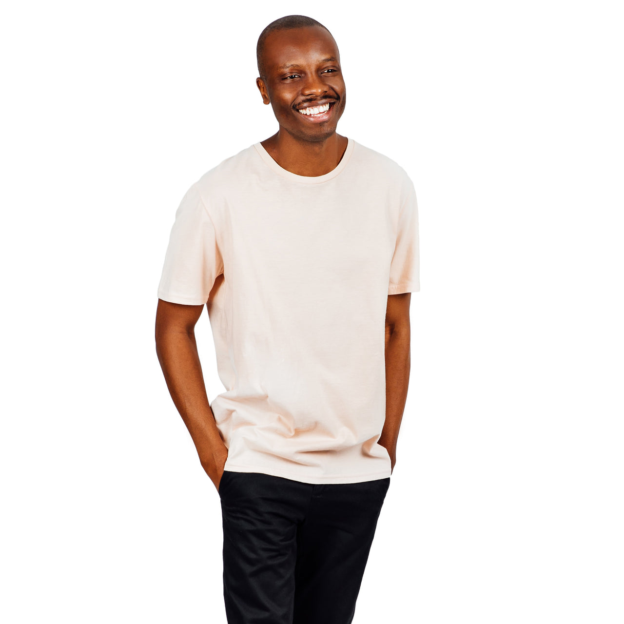 Refined Fit Organic Cotton Tee - Blush