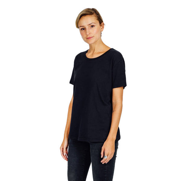 Women's Relaxed Fit Tee - Black