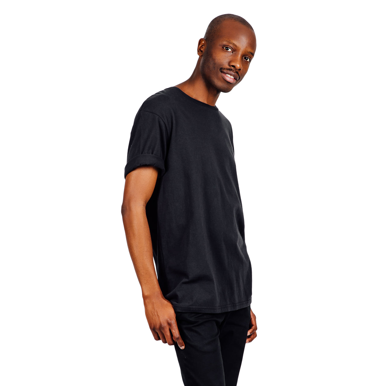 Relaxed Fit Organic Cotton Tee - Black