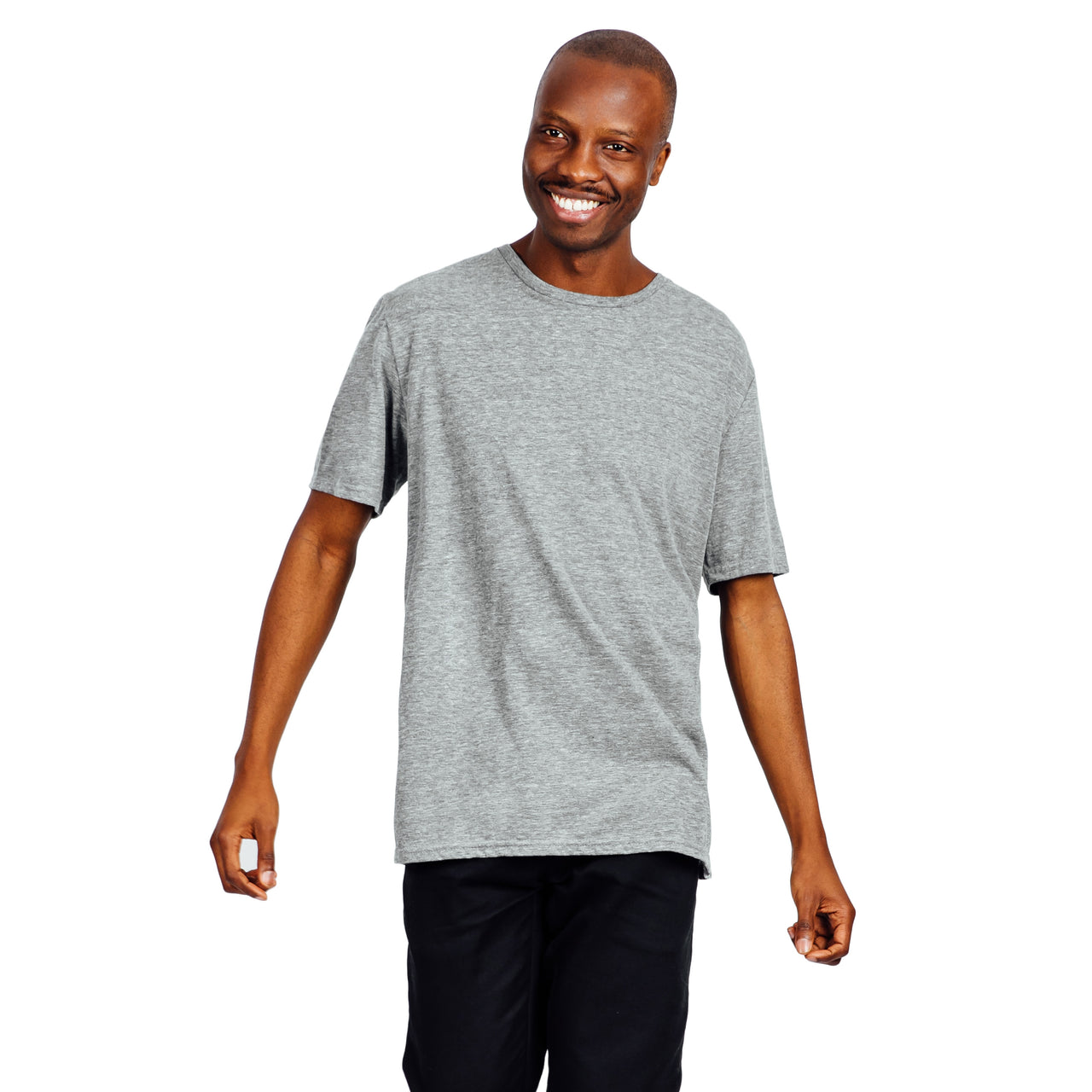Men's Relaxed Fit Tee - Grey Mix