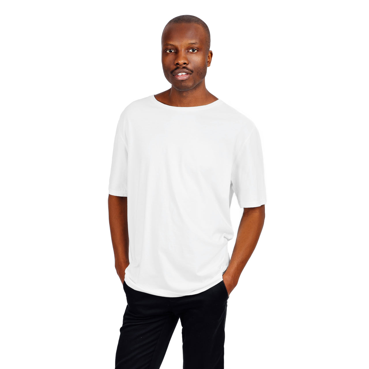 Relaxed Fit Organic Cotton Tee - White