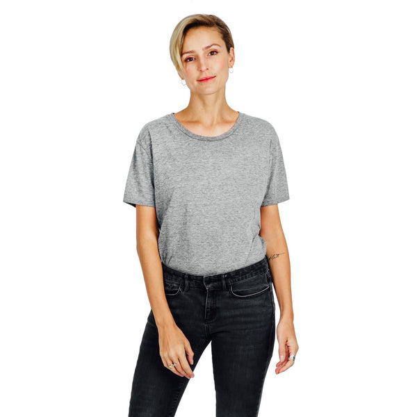 Women's Relaxed Fit Tee - Grey Mix