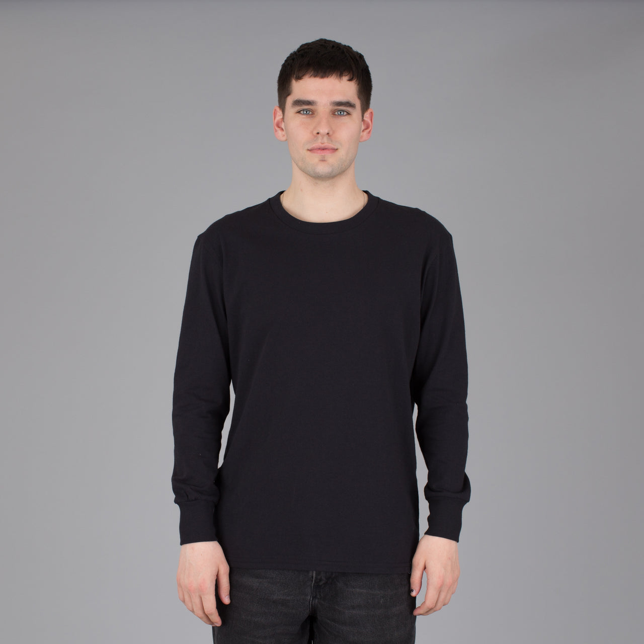 Men's Current Fit Long Sleeve Tee - Black