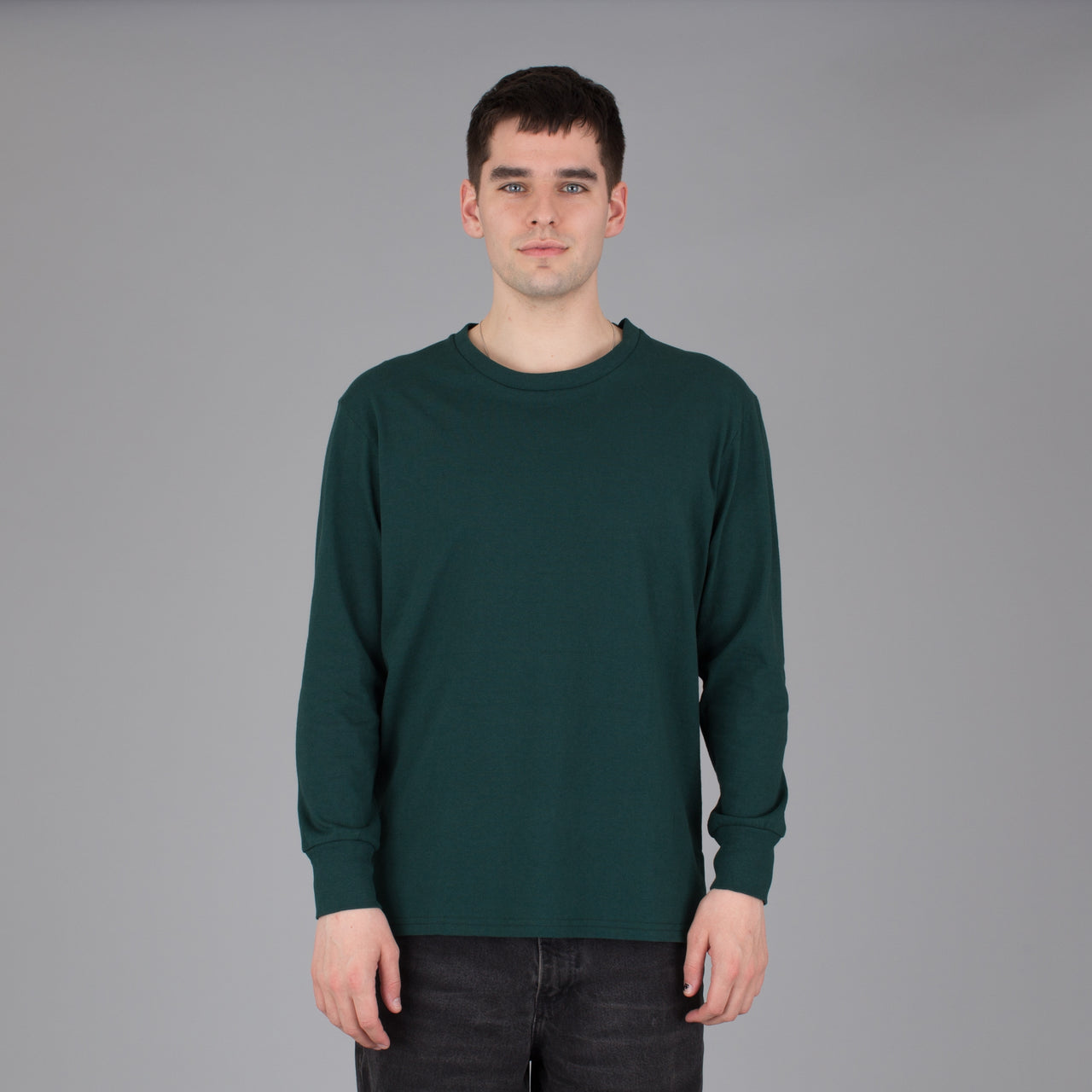 Current Fit Carded Cotton Long Sleeve - Emerald
