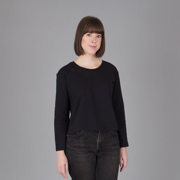 Women's Current Fit Long Sleeve Tee  - Black