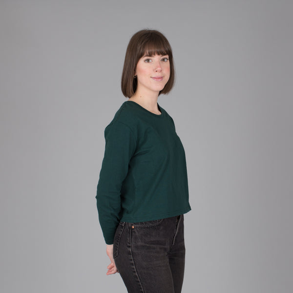 Women's Current Fit Long Sleeve Tee- Emerald