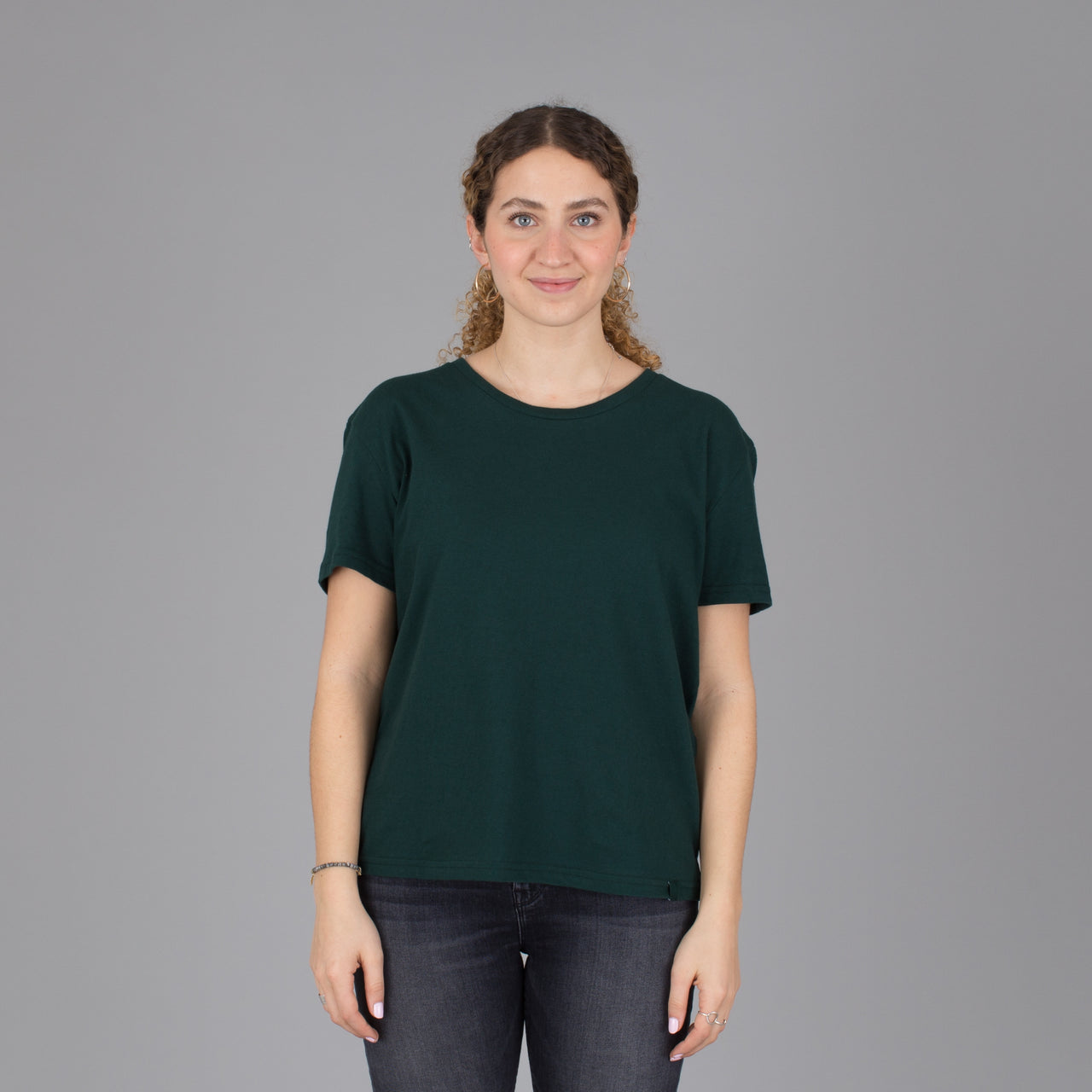 Relaxed Fit Organic Cotton Tee - Emerald