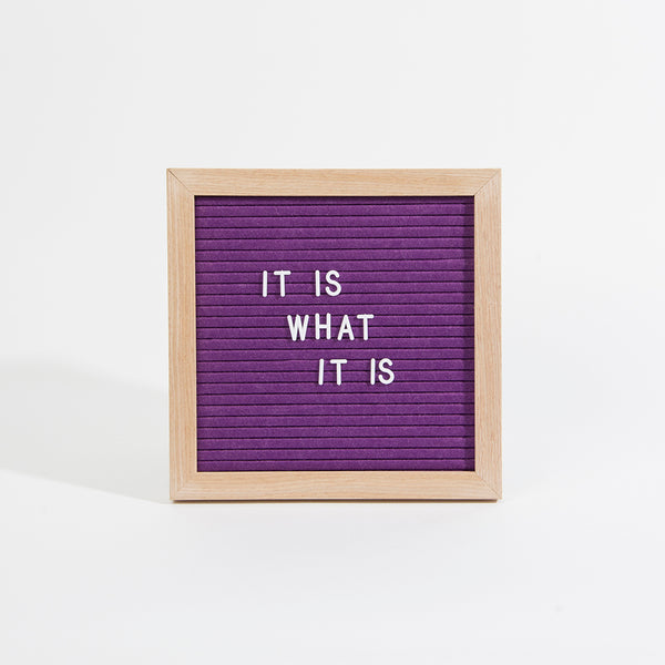Small Felt Letterboard - Purple