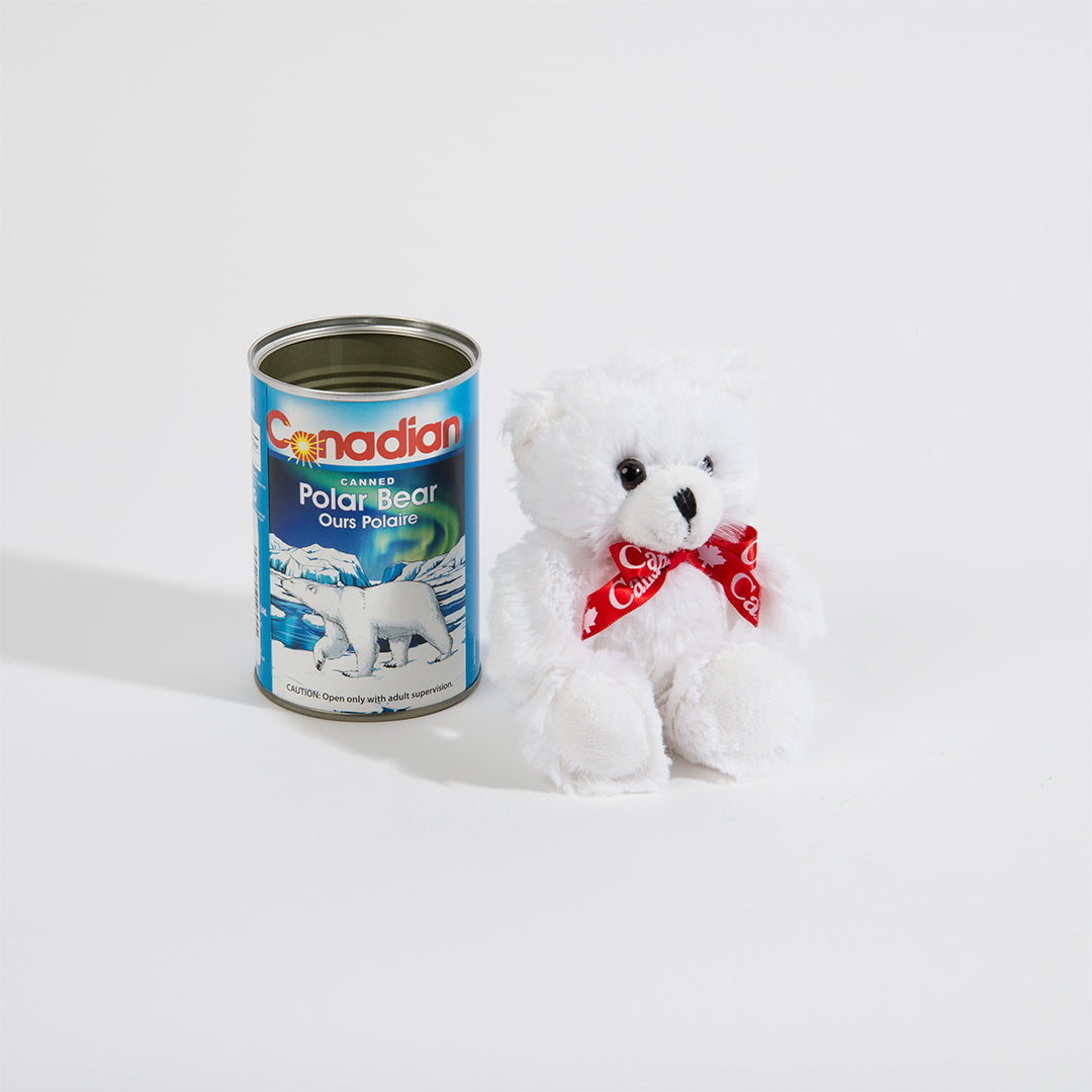 Polar Bear Canned Plush Toy