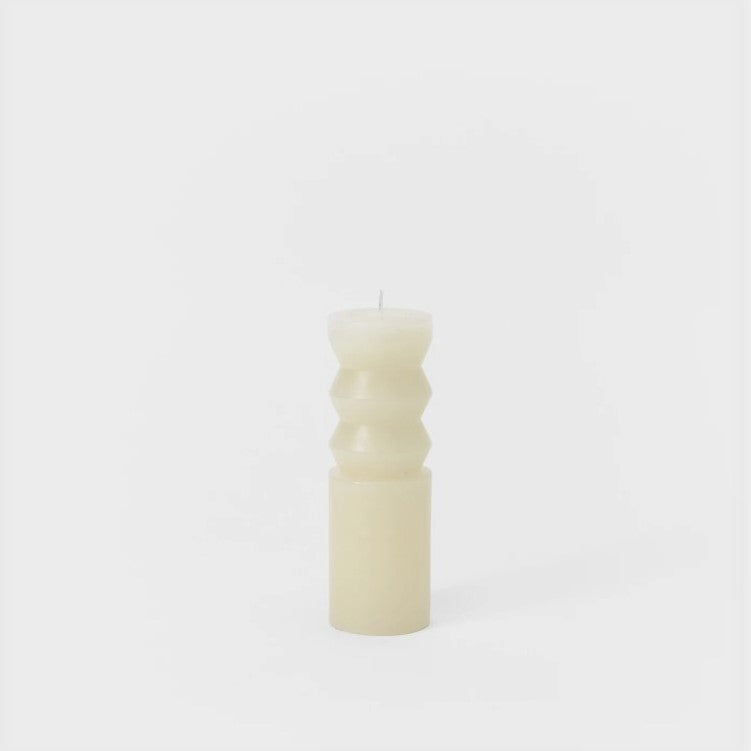 Medium Totem Candle - White