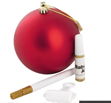 BABY ART CHRISTMAS BALL - КОЛЕДНА ТОПКА Red mat + Gold Baby Art Арт Спомени 23.00БебеМама