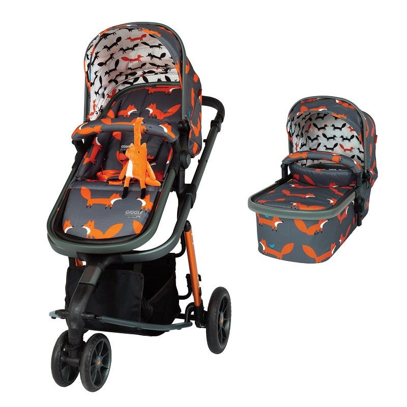 Cosatto CT4127 GIGGLE 3 CHARCOAL MISTER FOX бебешка количка