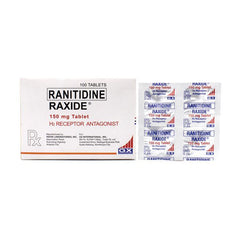 Rx: Raxide Ranitidine 150 mg Tablet