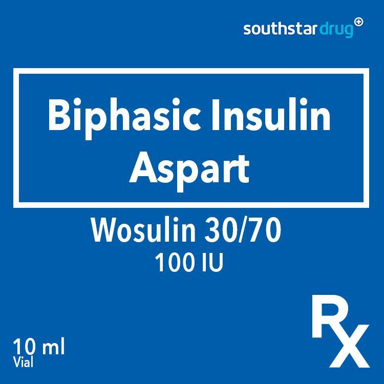 Rx: Wosulin 30/70 100 IU 10 ml Vial