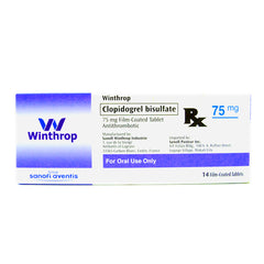 Rx: Clopidogrel Winthrop 75 mg Tablet