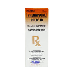 Rx: Pred 10 10 mg / 5 ml 30 ml Suspension