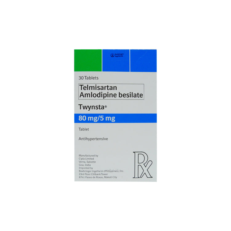 Rx: Twynsta 80 mg / 5 mg Tablet