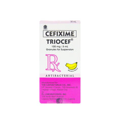 Rx: Triocef 100 mg / 5 ml 30 ml Granules for Suspension