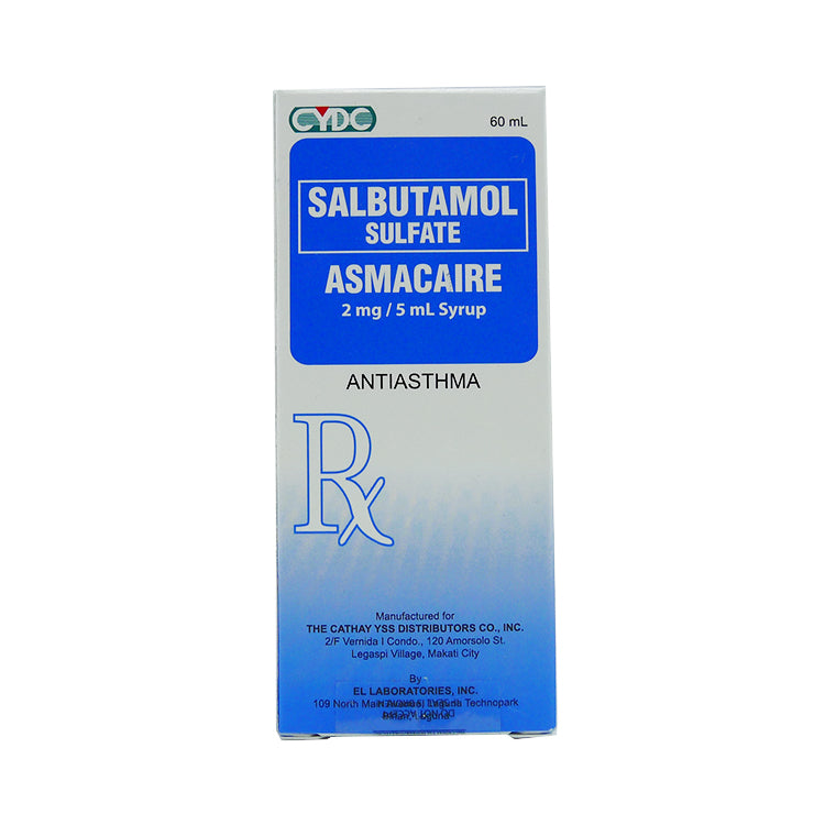 Rx: Asmacaire 2 mg / 5 ml 60 ml Syrup