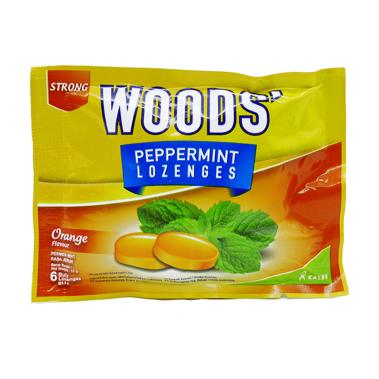 Woods Peppermint Orange 15 g Lozenges