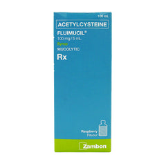 Rx: Fluimucil 100 mg / 5 ml 100 ml Syrup
