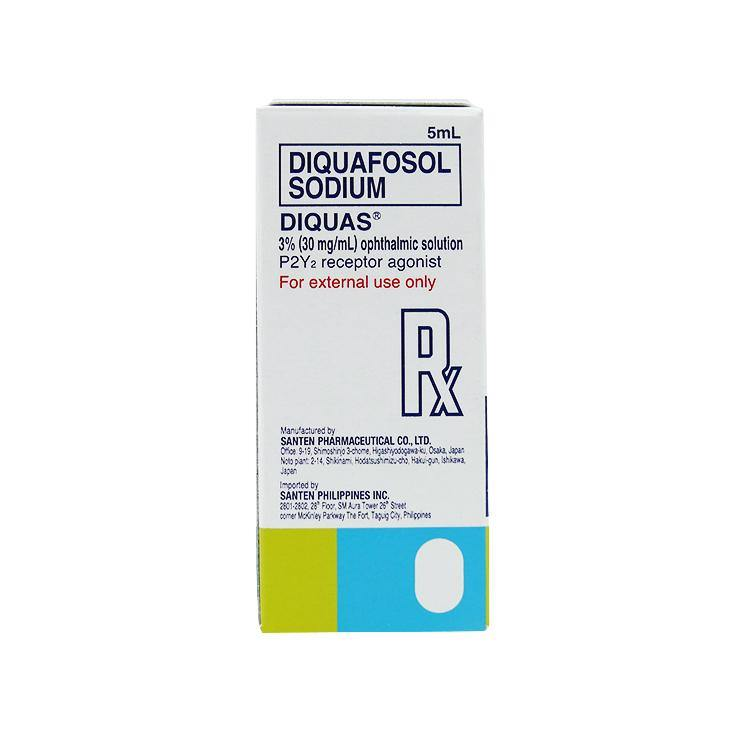 Rx: Diquas 3% 30 mg / ml 5 ml Ophthalmic Solution