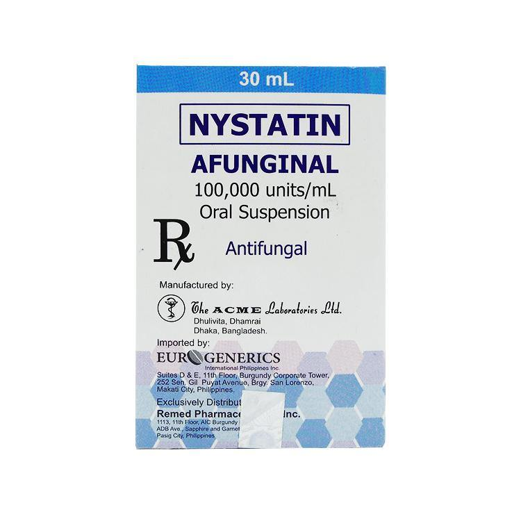Rx: Afunginal 100,000 Units / ml 30 ml Oral Suspension - Southstar Drug