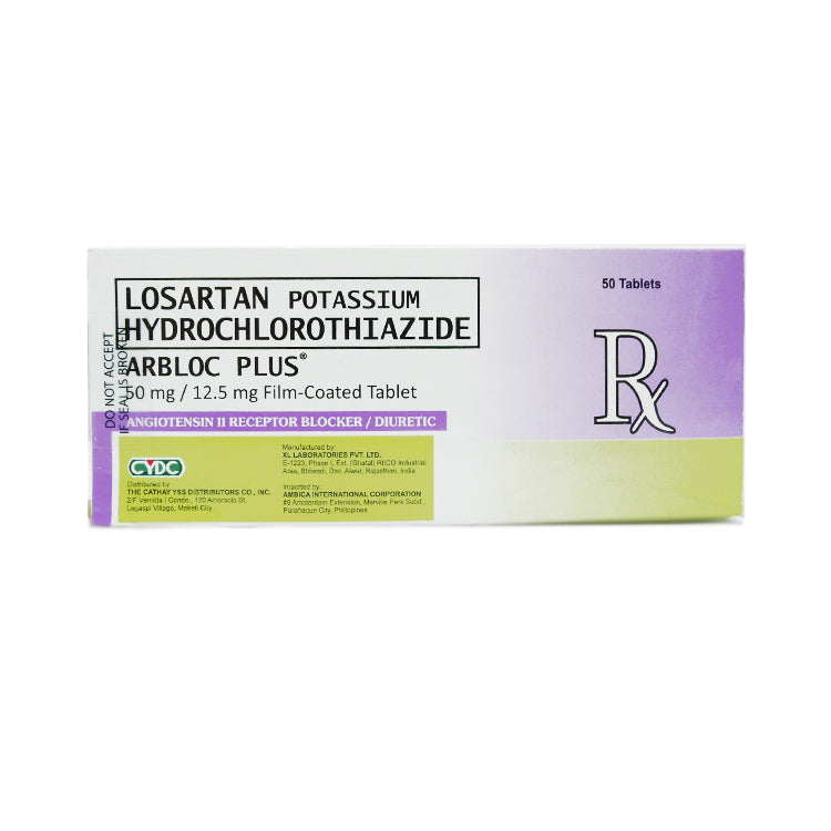 Rx: Arbloc Plus 50 mg / 12.5 mg Tablet