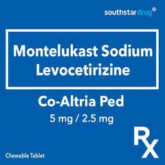 Rx: Co - Altria Ped 5 mg / 2.5 mg Chewable Tablet - Southstar Drug