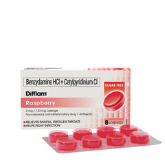 Difflam Raspberry 3 mg / 1.33 mg Lozenges - 8s