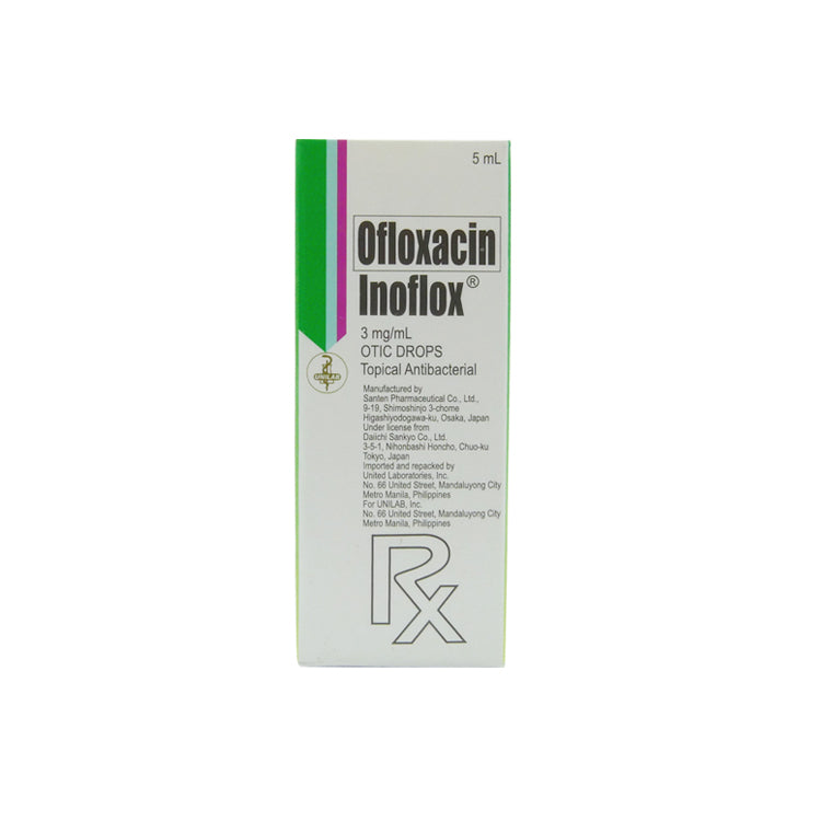 Rx: Inoflox 3 mg / ml 5 ml Otic Drops