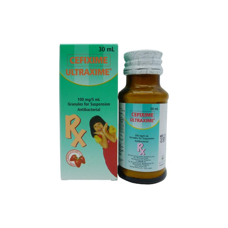 Rx: Ultraxime 100 mg / 5 ml 30 ml Oral Suspension