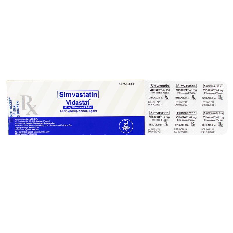 Rx: Vidastat 40 mg Tablet