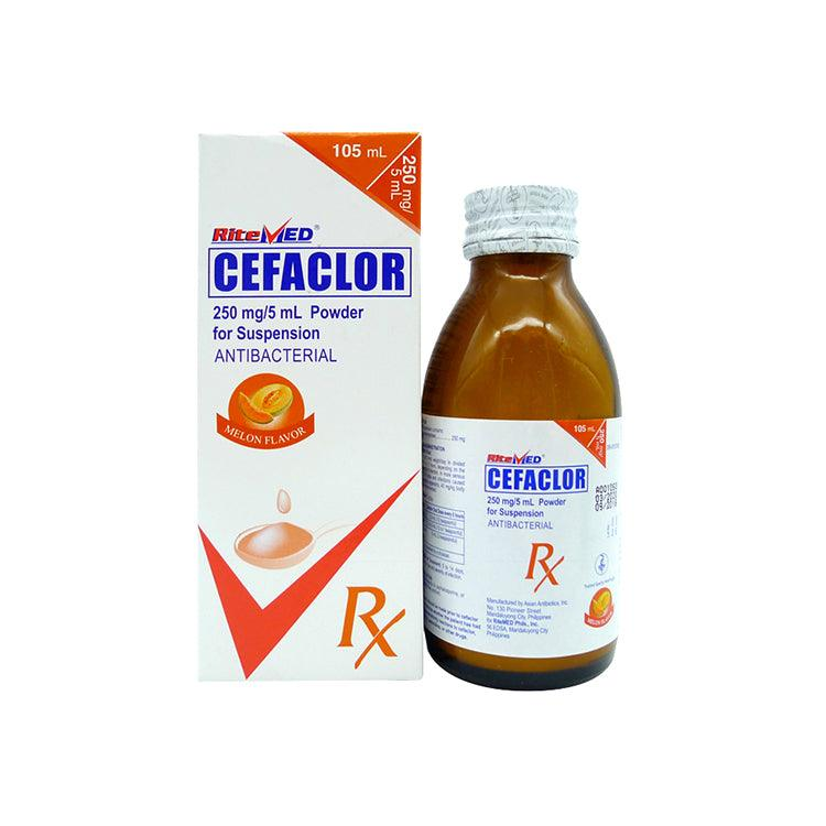 Rx: RiteMed Cefaclor 250 mg / 5 ml 105 ml