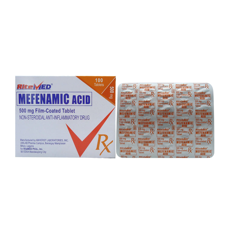Rx: RiteMed Mefenamic 500 mg Tablet