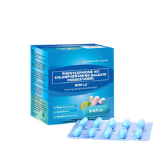 Bioflu 10 mg / 2 mg / 500 mg Tablet - 20s